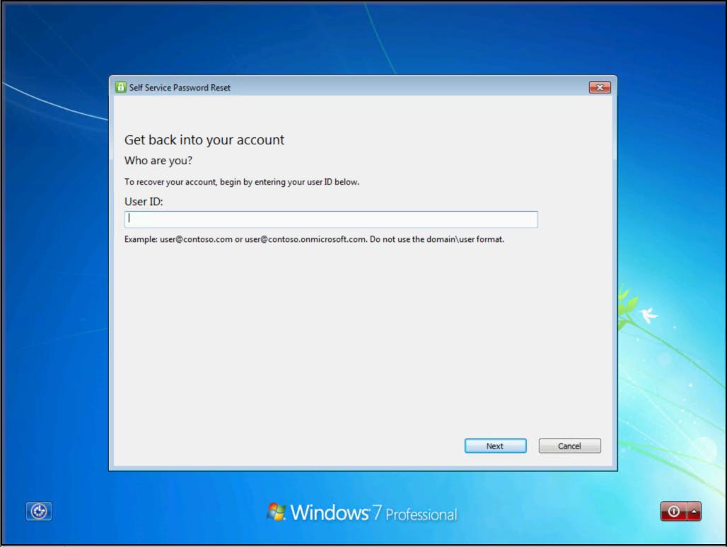 Azure AD self-service password reset for Windows - Azure
