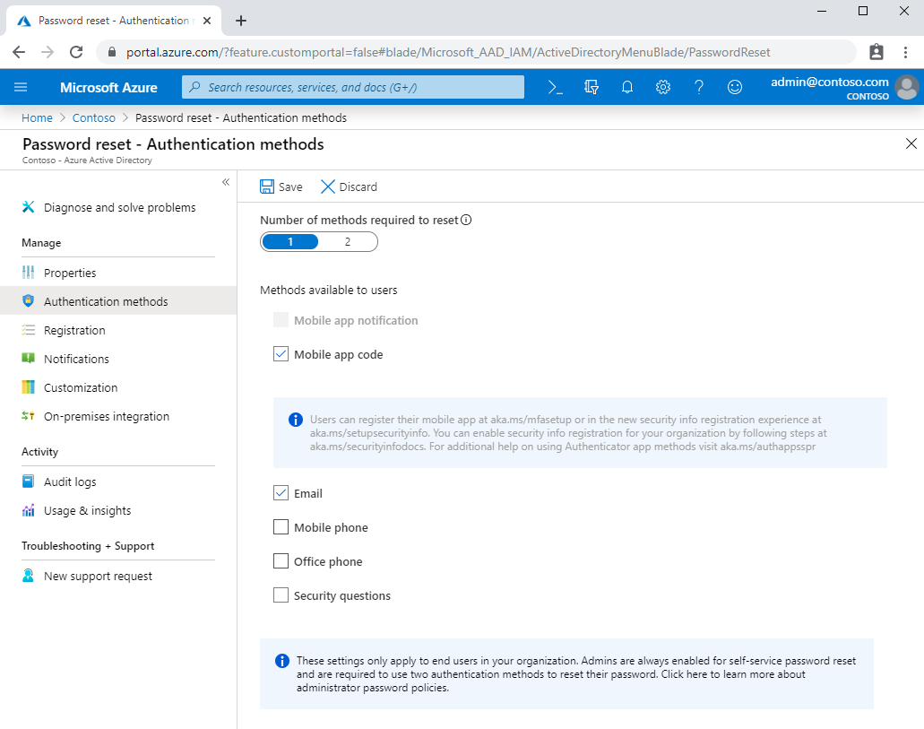 Quickstart Azure AD self-service password reset | Microsoft Docs