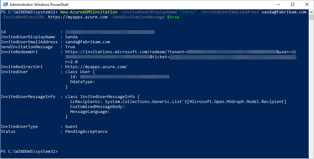 Quickstart Add a guest user with PowerShell - Azure Active Directory