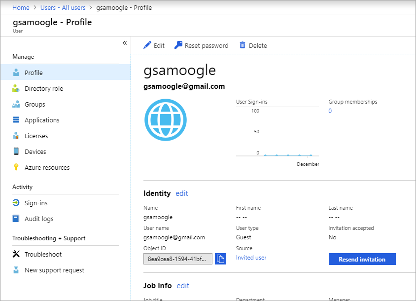 Properties of a B2B guest user - Azure Active Directory