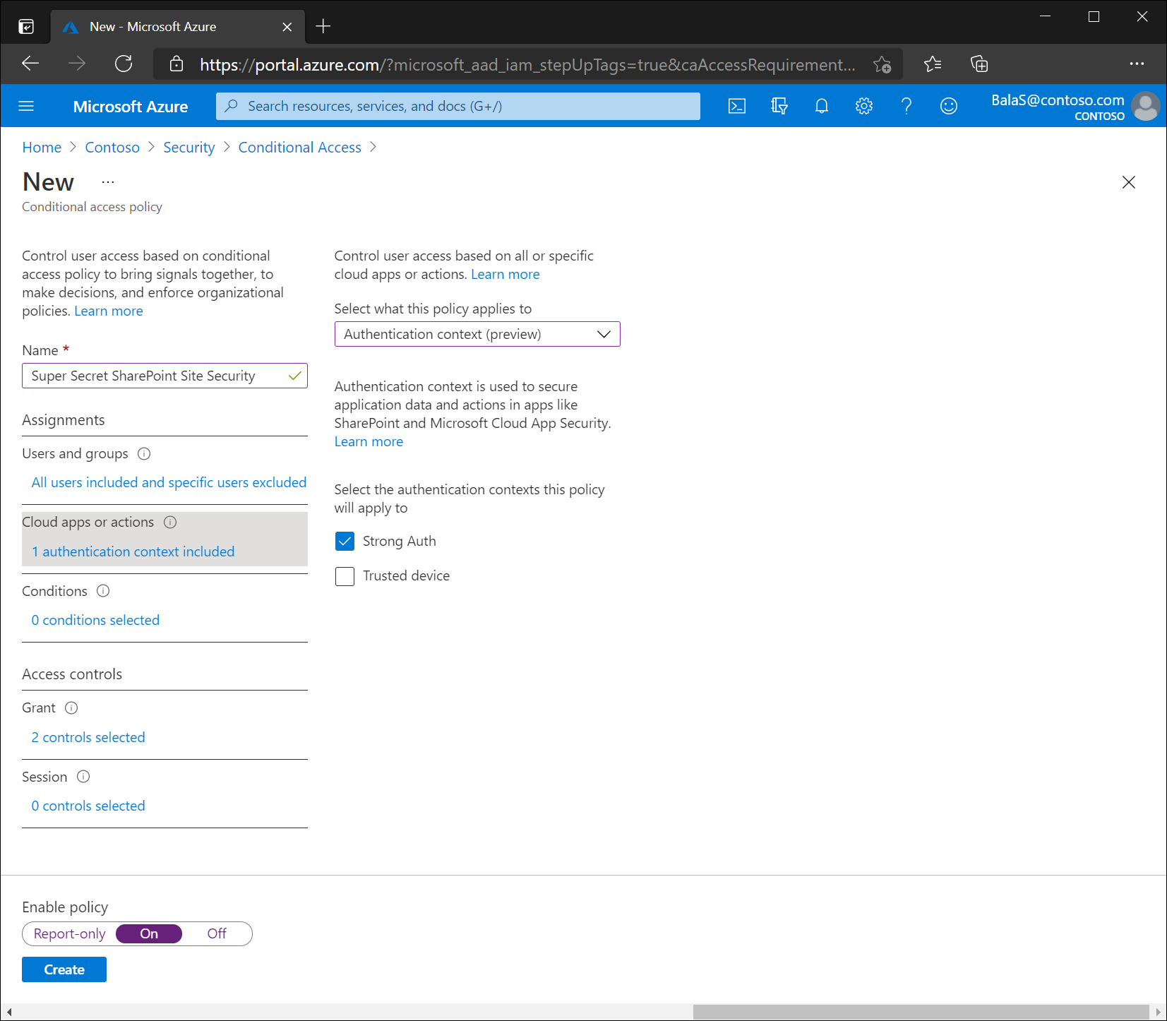 Define a Conditional Access policy and specify cloud apps