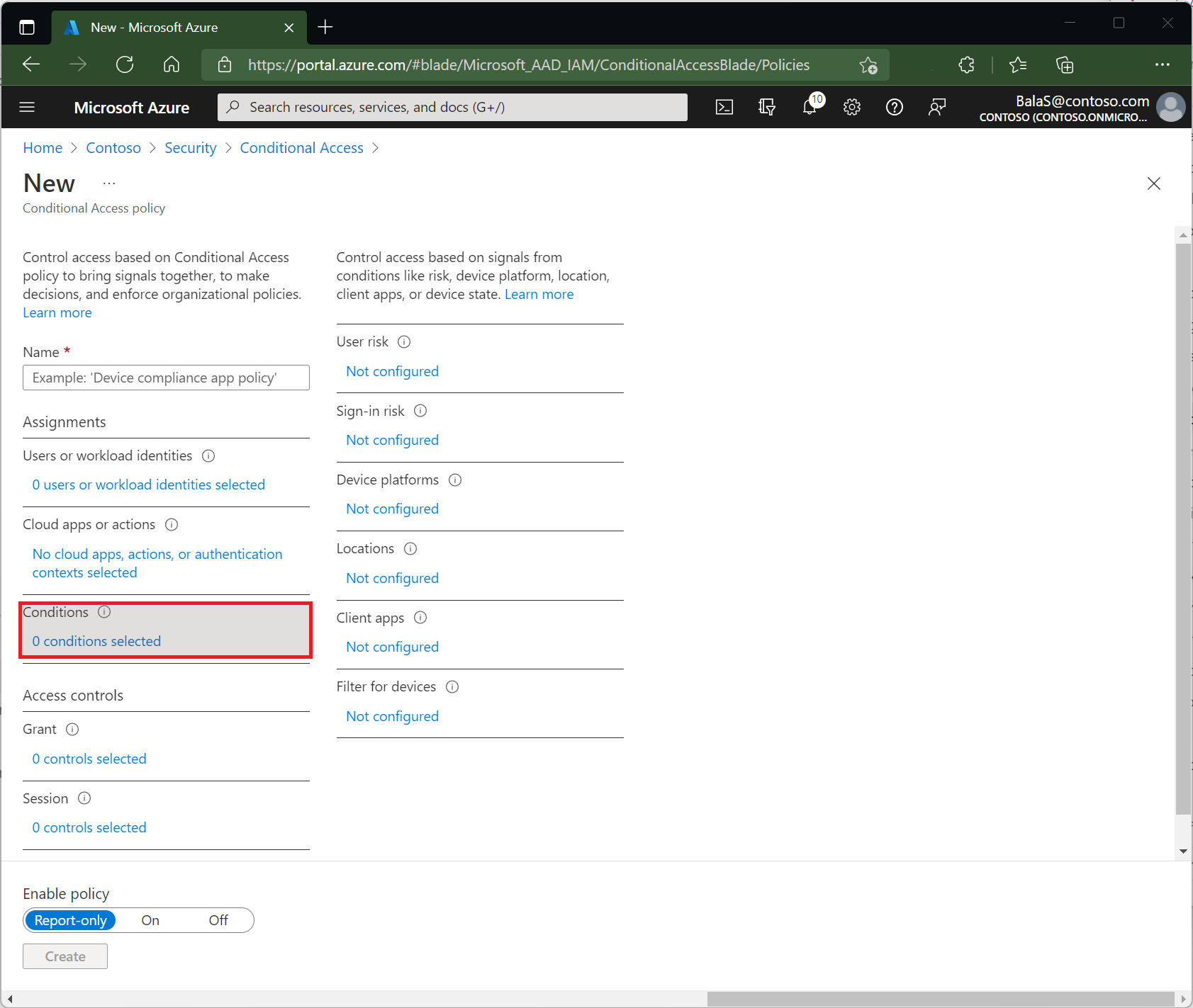 Conditions In Conditional Access Policy Azure Active Directory