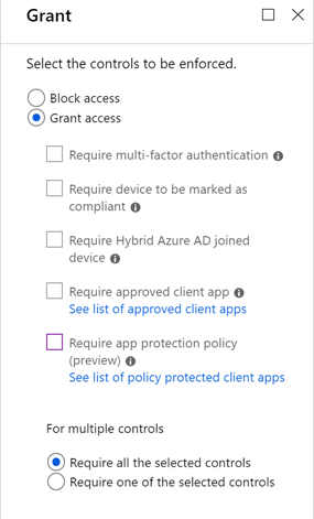 What are access controls in Azure Active Directory Conditional