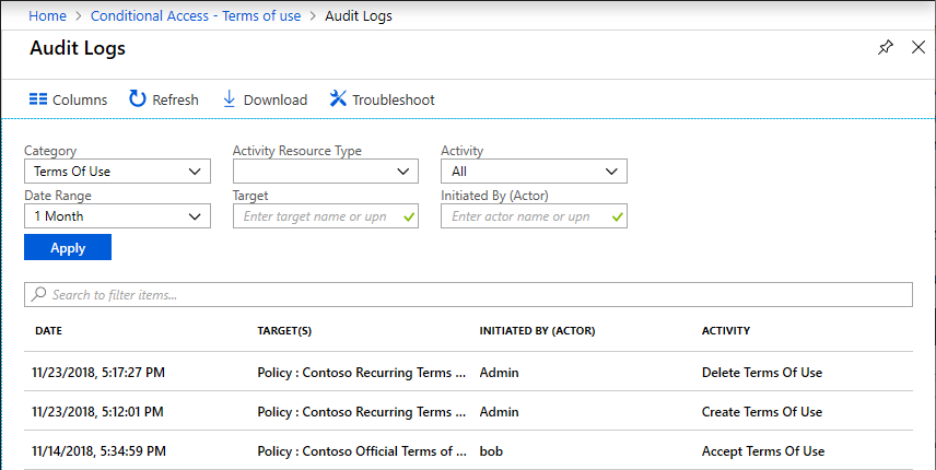 Terms of use - Azure Active Directory | Microsoft Docs