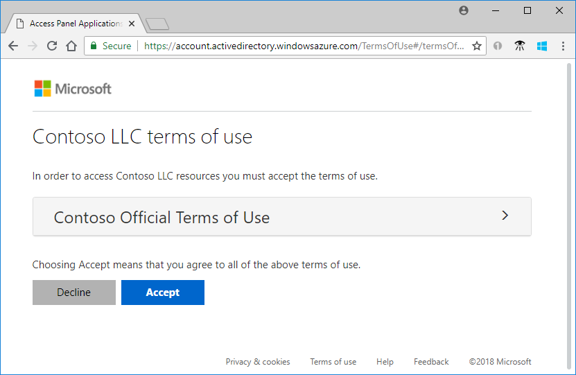 Terms Of Use >> Terms Of Use Azure Active Directory Microsoft Docs