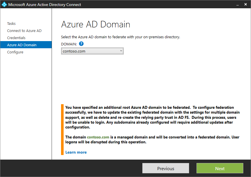 azure active directory connect aadconnect multiple domains