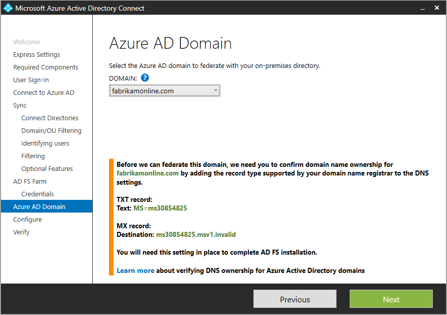 Azure Ad Connect Custom Installation Microsoft Docs