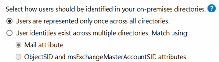 Option for representing users only once across all directories