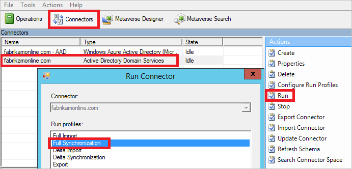 Azure ad connect sync make a configuration change in azure ad connect sync microsoft docs - Console active directory ...