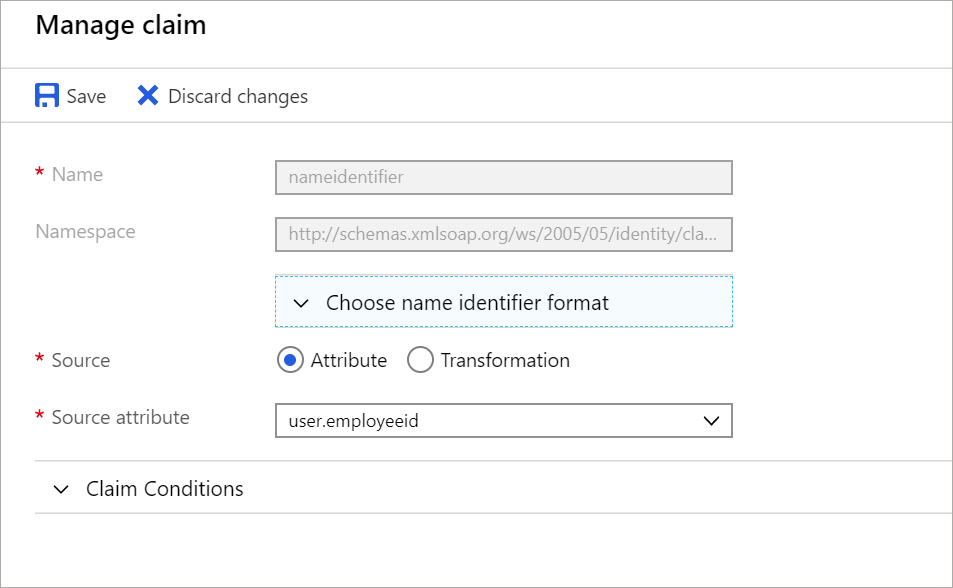 Customize SAML token claims for enterprise apps in Azure AD
