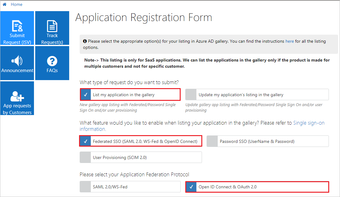 List your application in the Azure Active Directory