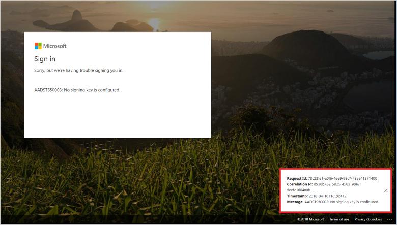 Debug SAML based single sign on Azure Active Directory