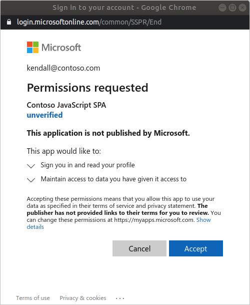 Tutorial Create A Javascript Single Page App That Uses Auth Code Flow Microsoft Identity Platform Microsoft Docs
