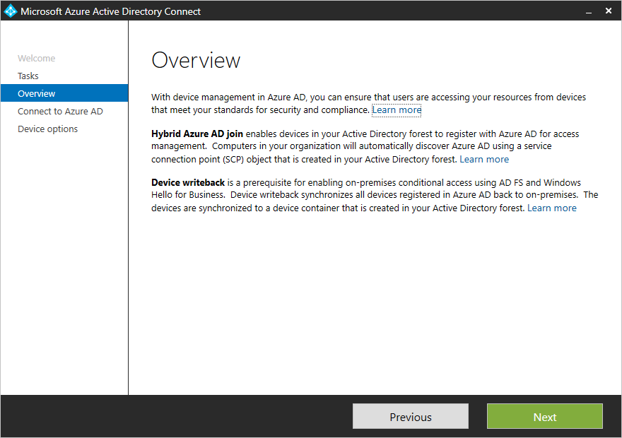 Configure hybrid Azure Active Directory join for federated