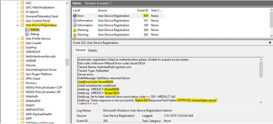 Troubleshooting hybrid Azure Active Directory joined devices