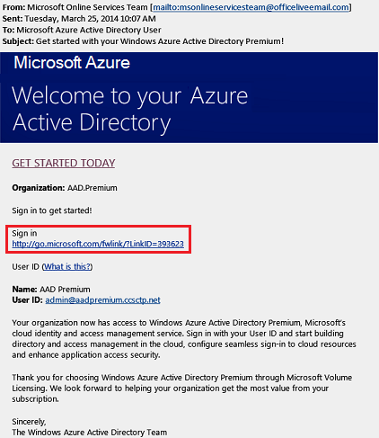 Sign up for premium editions - Azure Active Directory