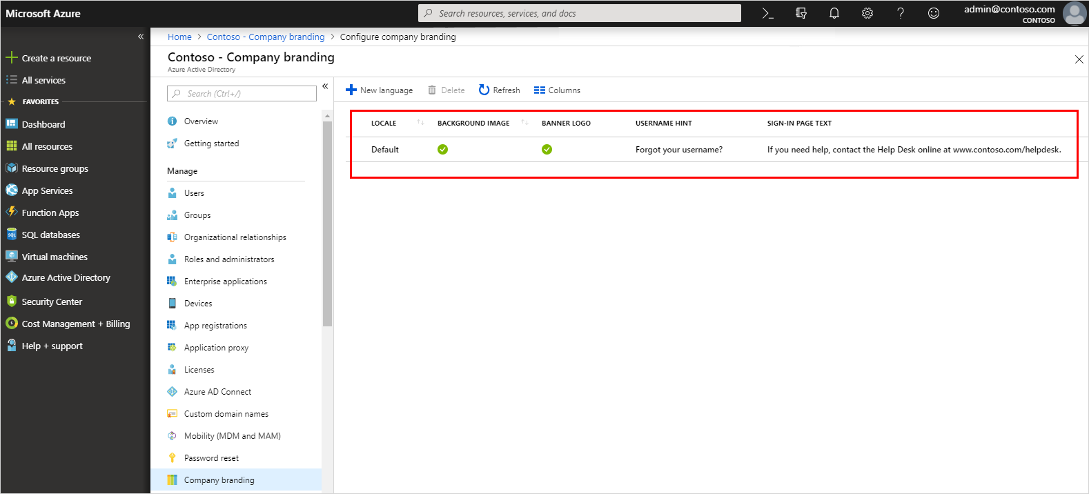 Add branding to your organization's sign-in page - Azure Active