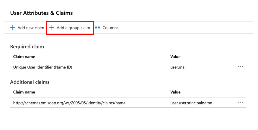 Configure group claims for applications with Azure Active Directory