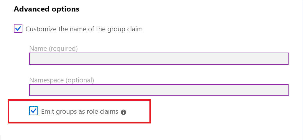 Configure group claims for applications with Azure Active