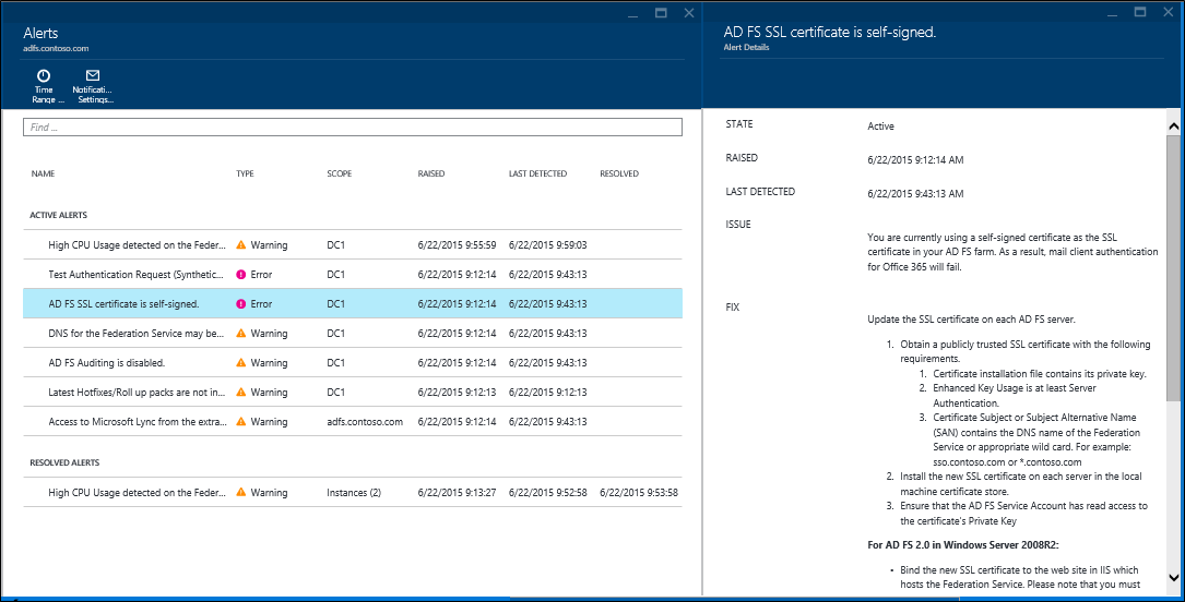 Using Azure Ad Connect Health With Ad Fs Microsoft Docs
