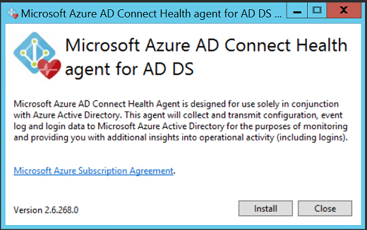 Azure AD Connect Health Agent installation | Microsoft Docs