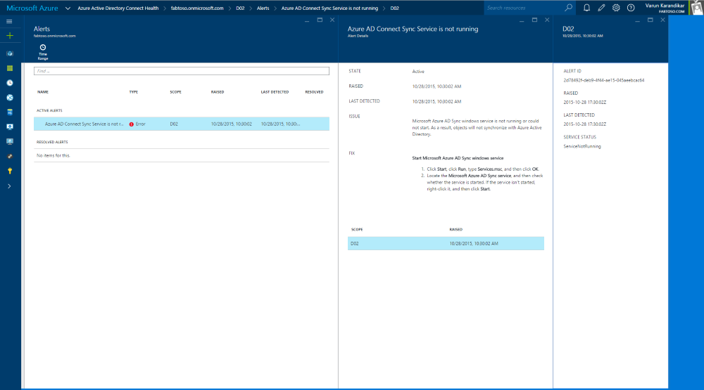 Using Azure AD Connect Health with sync | Microsoft Docs