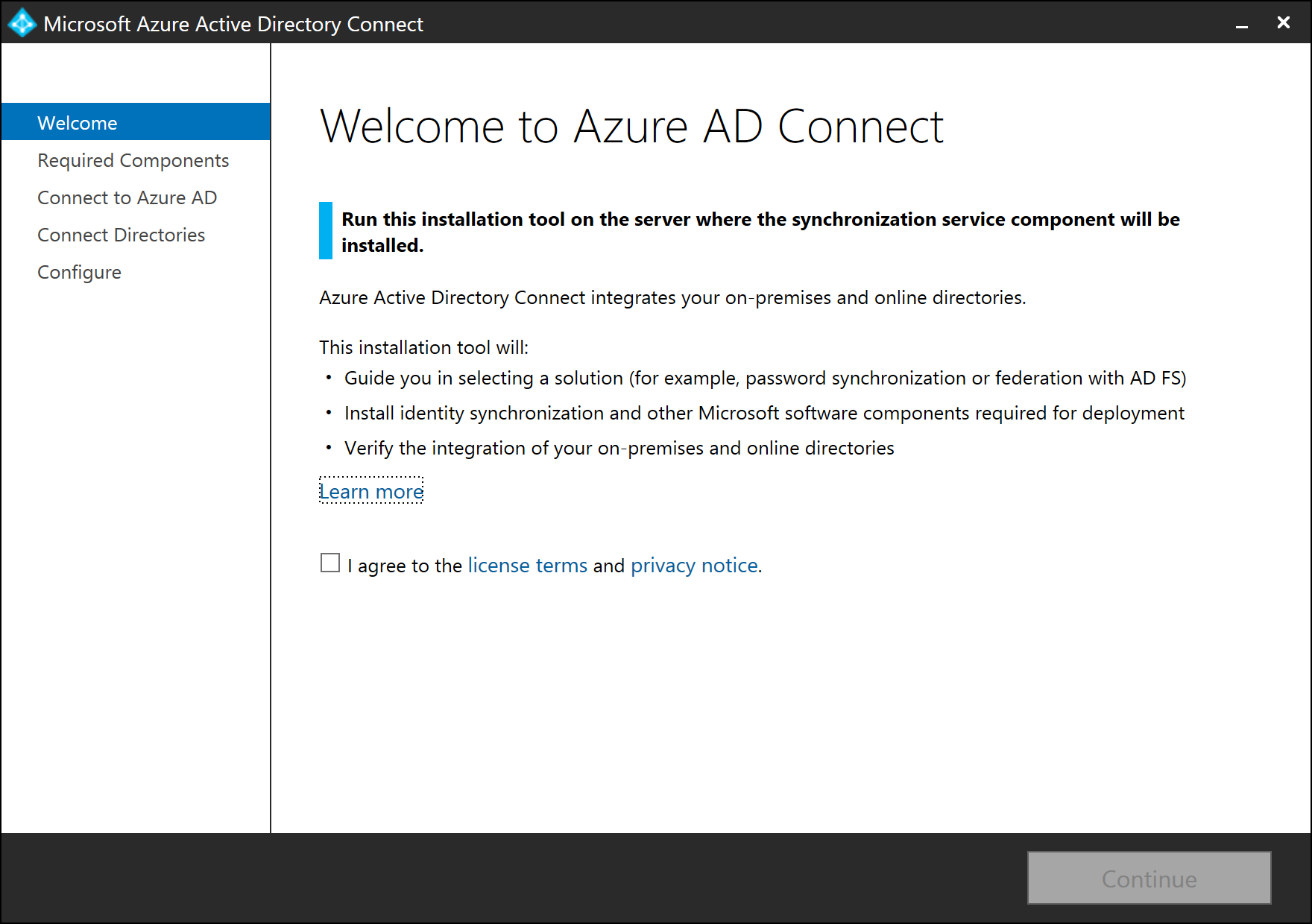 install azure ad connect by using an existing adsync database