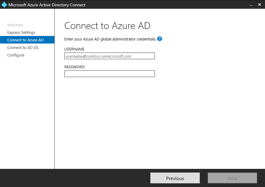 Azure AD Connect: Getting Started using express settings