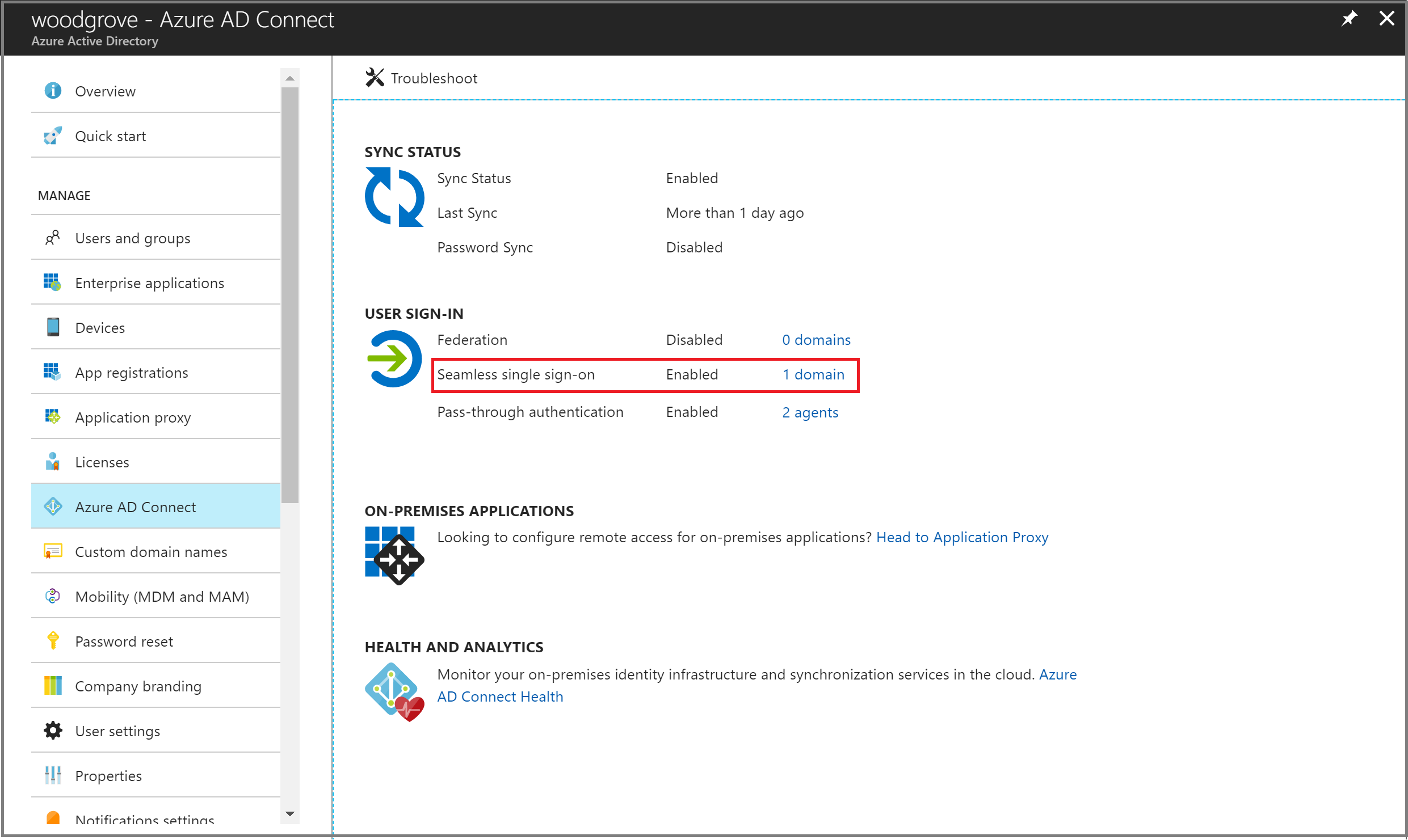 Azure AD Connect: Seamless Single Sign-On - quick start