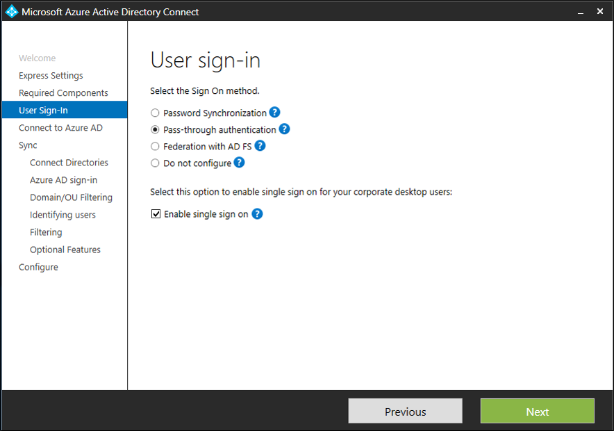 Azure AD Connect: Seamless Single Sign-On - quick start | Microsoft Docs