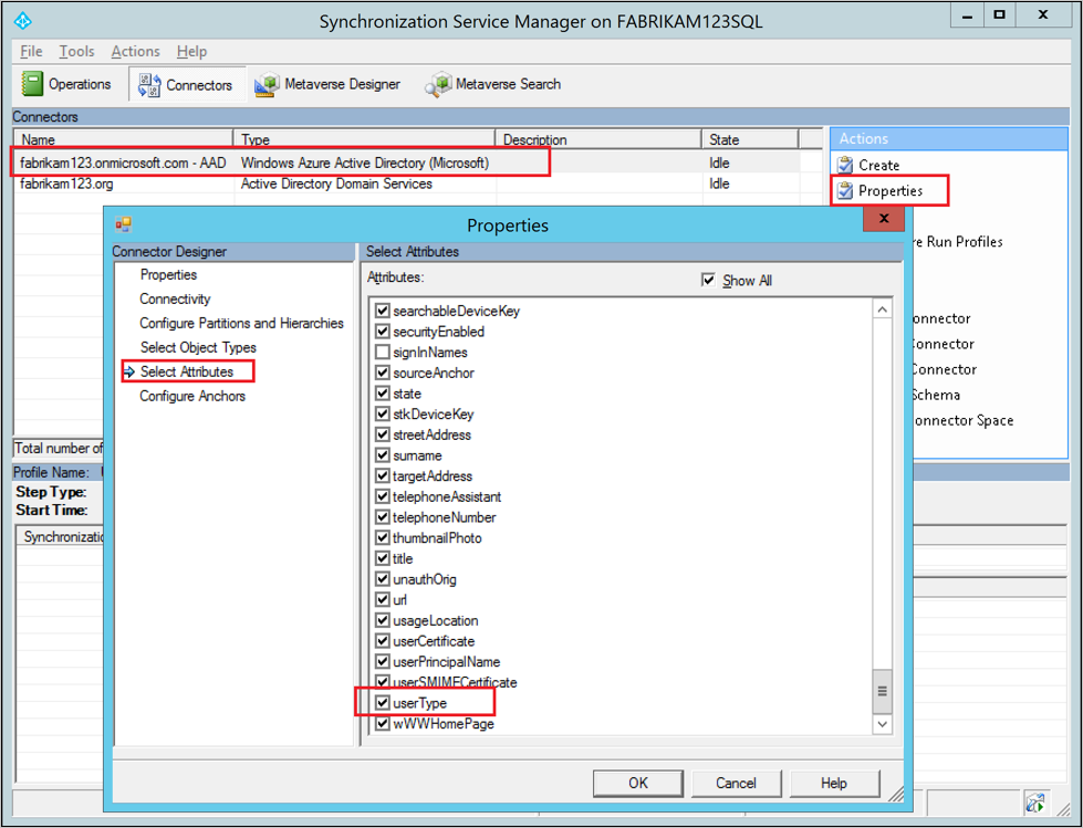 Add source attribute to Azure AD Connector schema