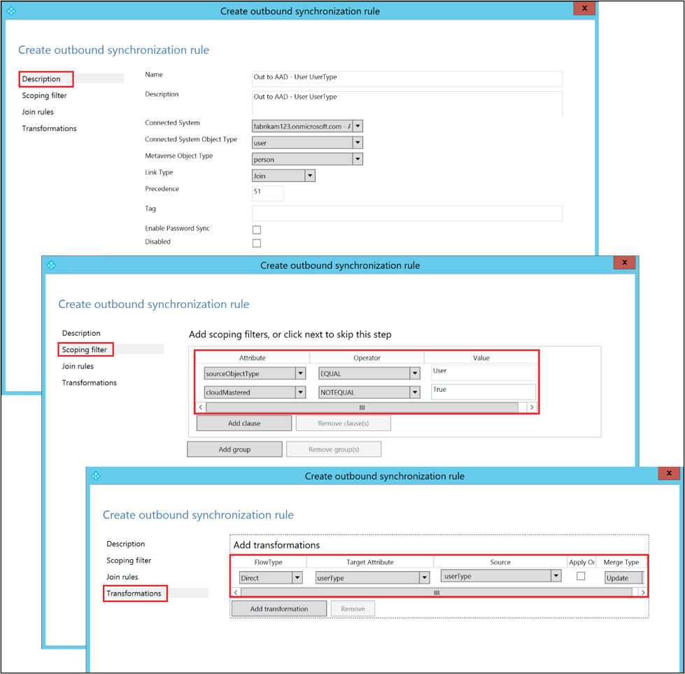 azure ad connect sync  make a configuration change in azure ad connect sync