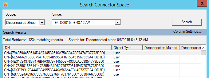 Search Connector Space
