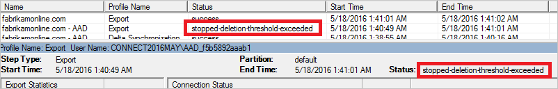 Prevent Accidental deletes Sync Service Manager UI