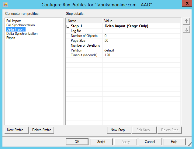 Connectors in the Azure AD Synchronization Service Manager