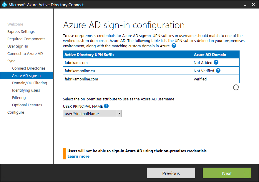 Azure AD sign-in page