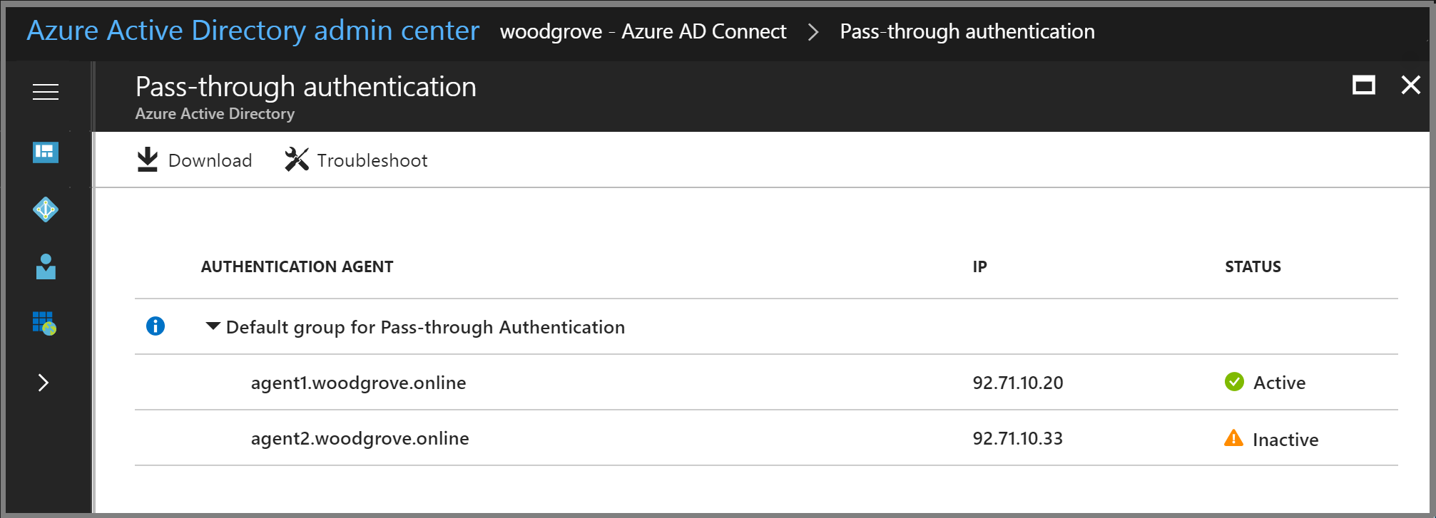 Azure AD Connect: Troubleshoot Pass-through Authentication