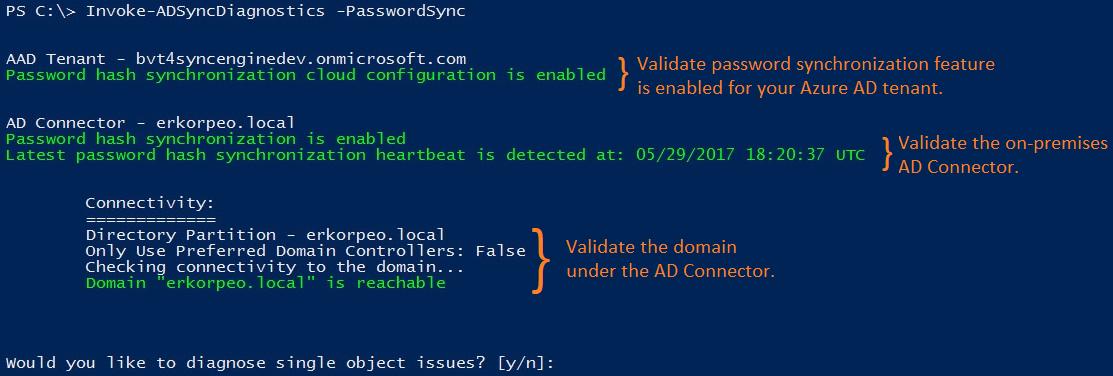 Troubleshoot password hash synchronization with Azure AD
