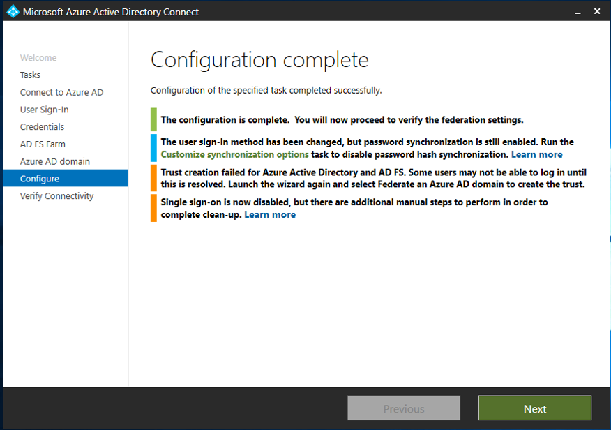 Tutorial: Setting up PHS as backup for AD FS in Azure AD