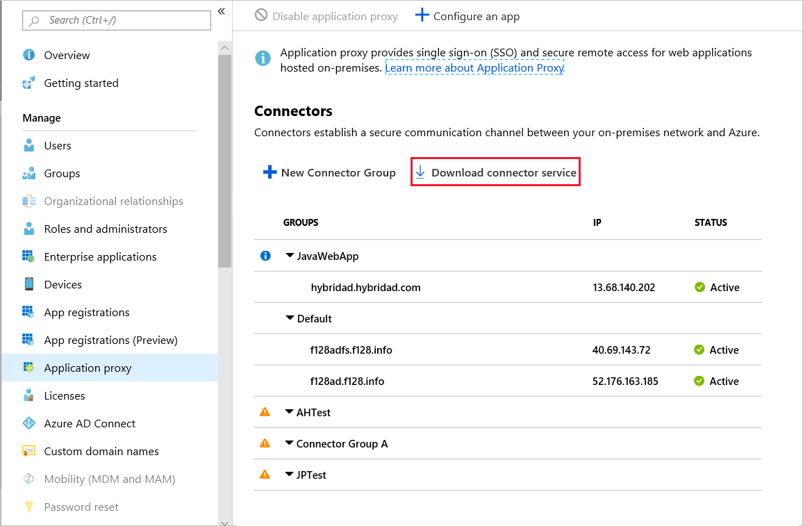 Add an on-premises app - Application Proxy in Azure Active Directory