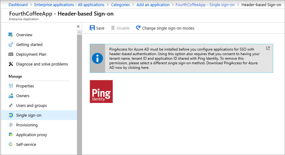 Header-based authentication with PingAccess for Azure AD