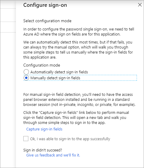 How to configure password single sign-on for Azure AD apps
