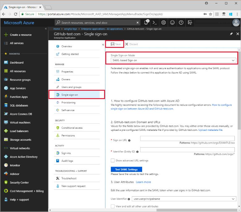 Configure Single Sign On Azure Active Directory Microsoft Docs