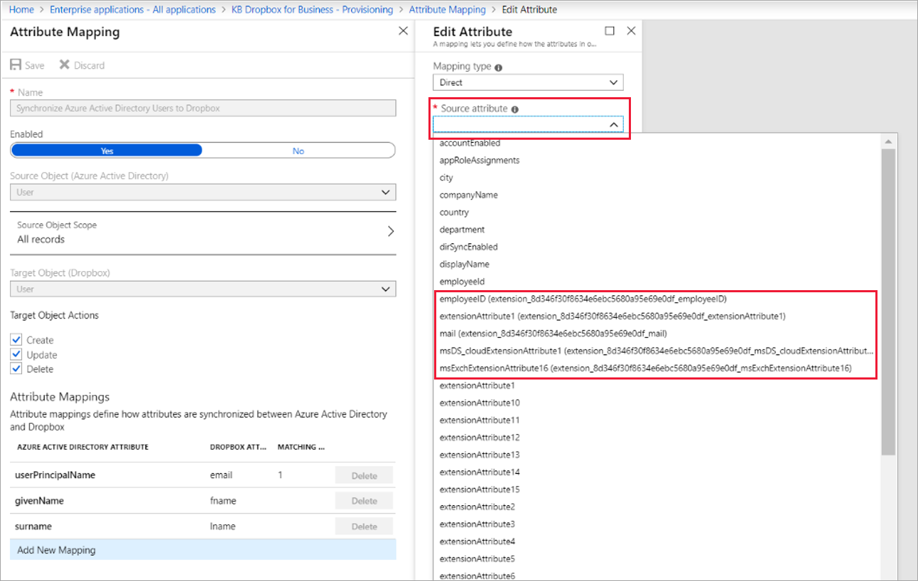 Synchronize attributes to Azure AD for mapping | Microsoft Docs