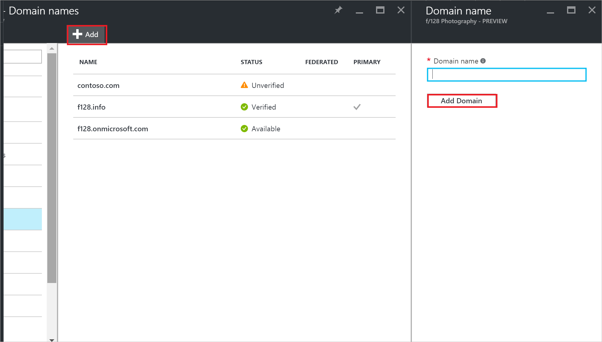 How to add a user in azure - Select The Add Command