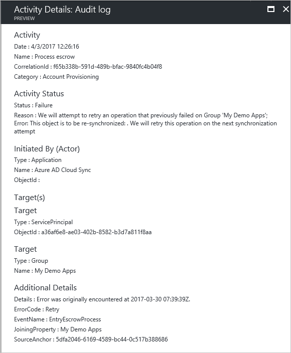 Audit activity reports in the Azure Active Directory portal – Audit Report