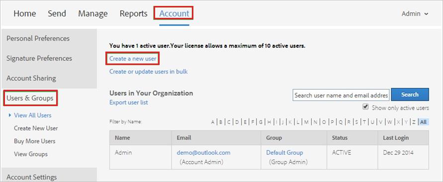 how to create adobe account