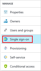 Configure single sign-on link