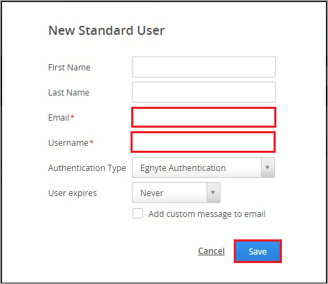 New Standard User