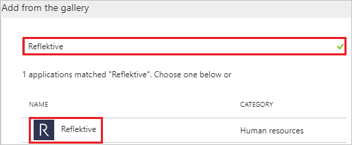 Reflektive in the results list
